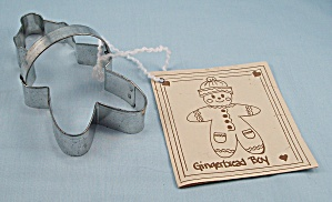 Gingerbread Boy, Cookie Cutter By Ann Clark With Recipe