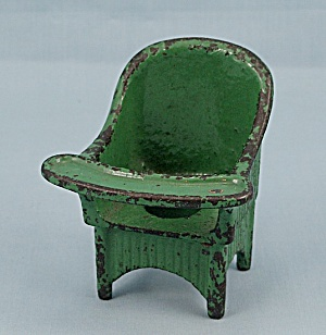 "Kilgore Toy - Cast Iron ""sally Ann"" Nursery Chair - Green"