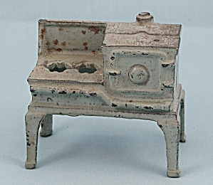 Kilgore - Cast Iron - Dollhouse Furniture - No. T.-7 -blue/ Gray, Gas Stove