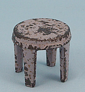 Kilgore Mfg. Co.- Dollhouse Toy - Cast Iron - Stool - Lavender