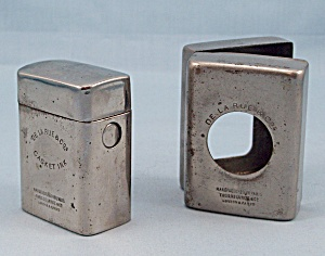 Traveling Inkwell, De La Rue Casket Ink, Nickel Plated Traveler, Circa 1910