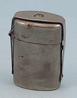 Traveling Inkwell With Stand, Nickel Plated Traveler, Circa 1910
