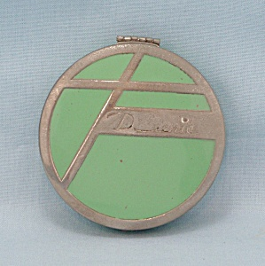 Deerie - Green Enameled Compact, Circa 1930's