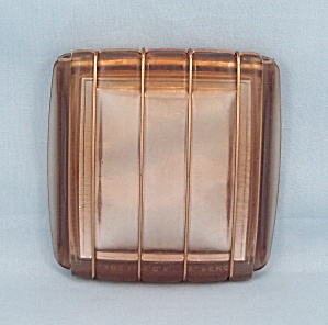 Lucite Pink Compact