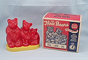 The Three Bears Bank / Original Box / Goldilocks Story On Carton