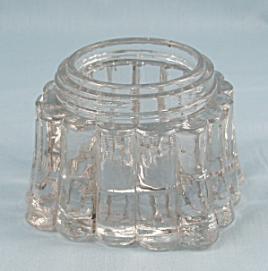 Fountain Ink Bottle Caddy - Crystal, Ribbed Sides, Pat. Apl'd For