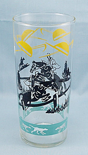 Federal Glass - Ice Tea Tumbler - Steeplechase
