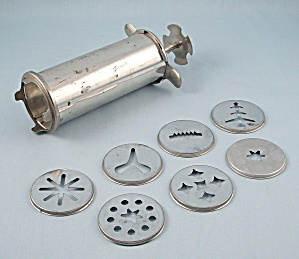 Aluminum Cookie Press, 7- Discs, Patn'd