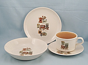 T.s. & T. - Cape Cod - 4-pc. Dinnerware Set