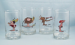 4-bc - Ice Age Collector Series Tumblers, 1981 Set, Arby's Promo