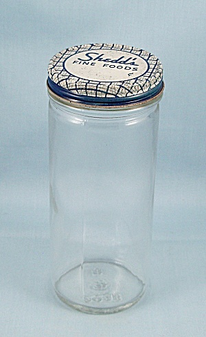 Shedd's Food / Foster-forbes Marked Jar / & Lid