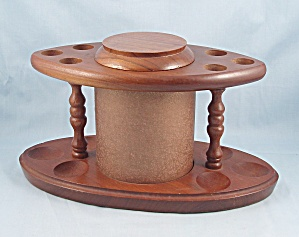 Fairfax - Walnut Pipe Stand/ Rack - Six Slot - Humidor