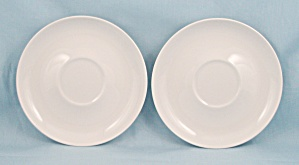 2 -franciscan White Saucers