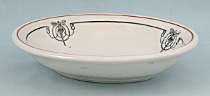 Scammell's Trenton China - Decorated Oval Bowl