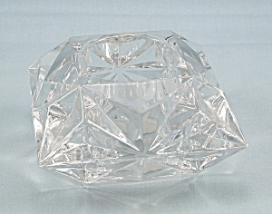 Partylite - Quad Prism Tealite / Votive Holder - Lead Crystal