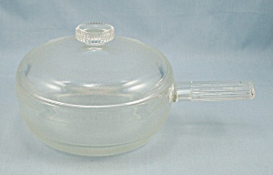 Flamex, Individual Casserole, Small Glass Panwith Handle & Lid