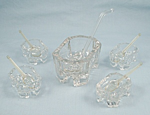 Salt Dips, Spoon Dippers, Master Salt Cellar/dip - 10 Pieces In Set