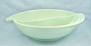 Boonton 605 - Divided Mint Green 8-inch Serving Bowl