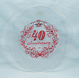 Viking Glass, 40th Anniversary Plate