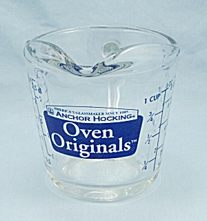 Anchor Hocking - One-cup No. 496 Measuring - Blue -oven Originals