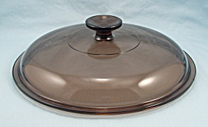 Pyrex - Corning - Amber Visions - Round Skillet Lid - 10 Inches