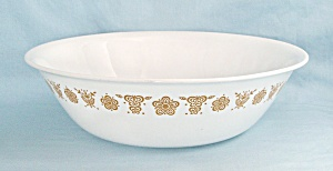 Corelle, Butterfly Gold, 10-inch Round Vegetable Bowl