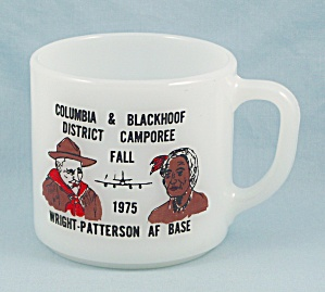 Wright Patterson Air Force Base - 1975 Boy Scout Mug, Federal Glass