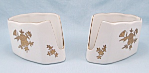 Pair - Andrea By Sadek, Buffet Table Spoon/ Fork Holders #7736