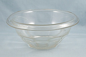 Clear, Hazel Atlas, Restwell - Small Mixing Bowl, Rolled Rim