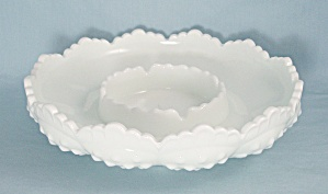 Fenton - Hobnail Ashtray, Chip-n-dip, Candle Bowl