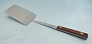 Pyramid - Solid Spatula, Wood Handle