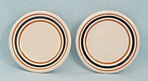 Two - Butter Pats, Orange & Black Lines/stripes