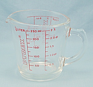 Pyrex 508 - Measuring Cup, Red Lettering, 1-cup