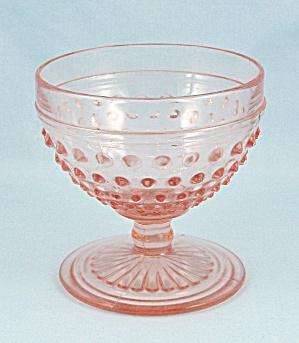 Hobnail Pink Champagne, Tall Sherbet - By Anchor Hocking