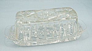 "Vintage ""early American Prescut"" Quarter Pound Covered Butter Dish"