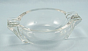 Art Deco Clear Ash Tray - Side Wings