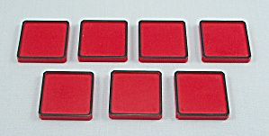 Rubik's Race Game, Ideal, 1982, 7 Replacement Red Tiles