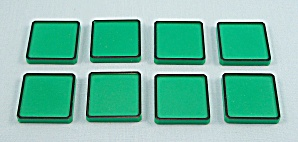 Rubik's Race Game, Ideal, 1982, 8 Replacement Green Tiles