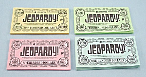 Jeopardy Game, Pressman, 1986, Replacement Set Of Money