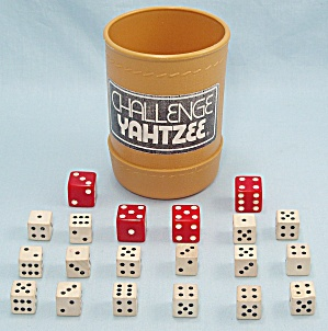 Challenge Yahtzee Game, E. S. Lowe, 1978, Replacement Dice And Dice Cup