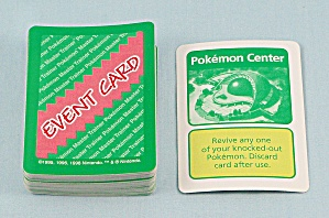Pokémon Master Trainer Game, Milton Bradley, 1999, 54 Replacement Event Cards