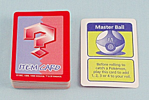 Pokémon Master Trainer Game, Milton Bradley, 1999, Replacement Item Cards