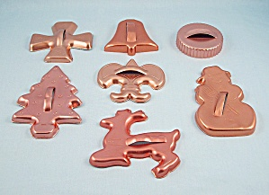 7 - Christmas Coppertone Aluminum Cookie Cutters