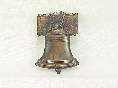 Antique Vintage 1896 Copper Liberty Bell Brooch Or Convention Badge