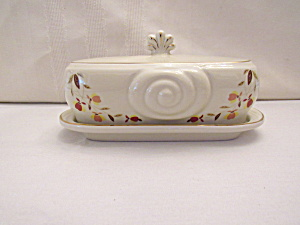 Autumn Leaf Quarter Lb Snail Butter Dish