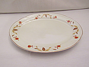 Hall Autumn Leaf Small Oval Platter