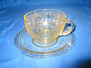 Yellow Florentine #1 Cup & Saucer