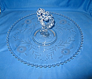 Candlewick Floral Cut #279 Pastry Tray 400/6