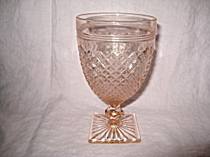 Pink Miss America Water Goblet