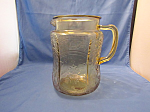 Amber Patrician Moulded Handled Pitcher